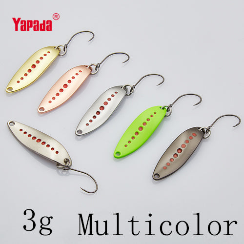 Spoon 012 Leech 2g/3g/5g BKK HOOK 33-38-45mm Multicolor 6pcs Metal Small Spoon Fishing Lures