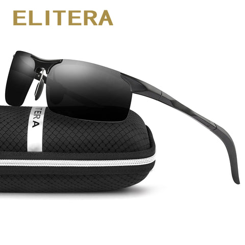 ELITERA Aluminum Magnesium Polarized Sunglasses Mirror Sun glasses Fishing Outdoor Sports Eyewear
