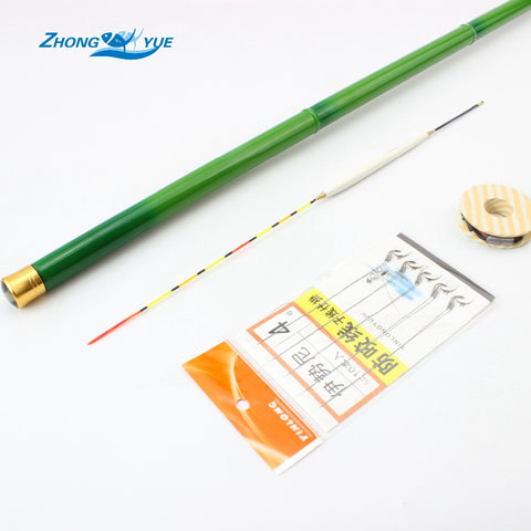 Telescopic Carbon Fiber Fishing Rod 3.6M-7.2M Ultra-light Carp Fishing Pole Stream Hand Rod