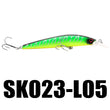 Nunatak SK023 1 PC Floating Minnow Lure 22.5g 125mm 0-1.5M Minnow 5 Colors Salt/Fresh Water