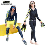 Women Swimwear Split Rash Guards Wetsuit Diving Suit Long Sleeve Sunscreen Swimsuit Snorkeling