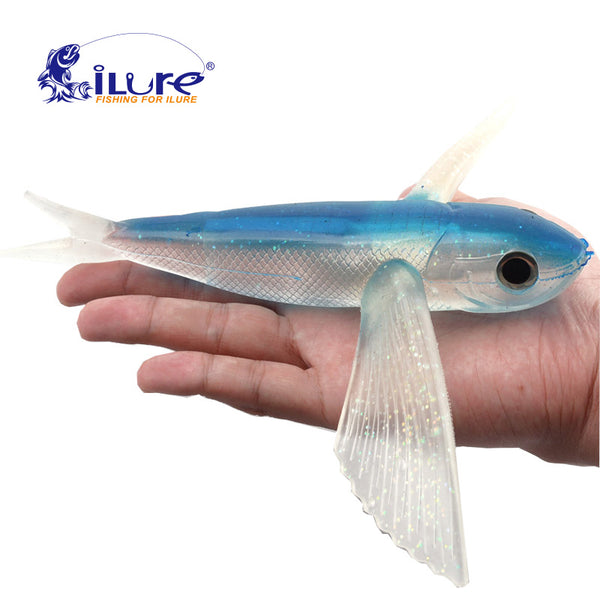 iLure Sea water fishing fly fish 3D eyes 22cm 124g soft trolling tuna sea mackerel crankbait