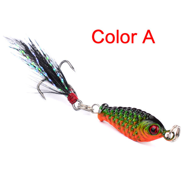 New Arrival 1pc Jig Fishing Tackle Lead fish Bait 6.4g 4 colors Fishing lure