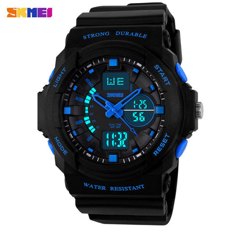 Children Watches Digital Quartz Electronic LED Chronograph Silicone Swim Dive Watch Kids Wristwatch