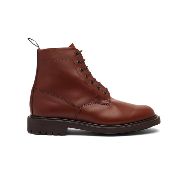 The 'Aiden' Derby Boot in Cognac - Blackstock & Weber