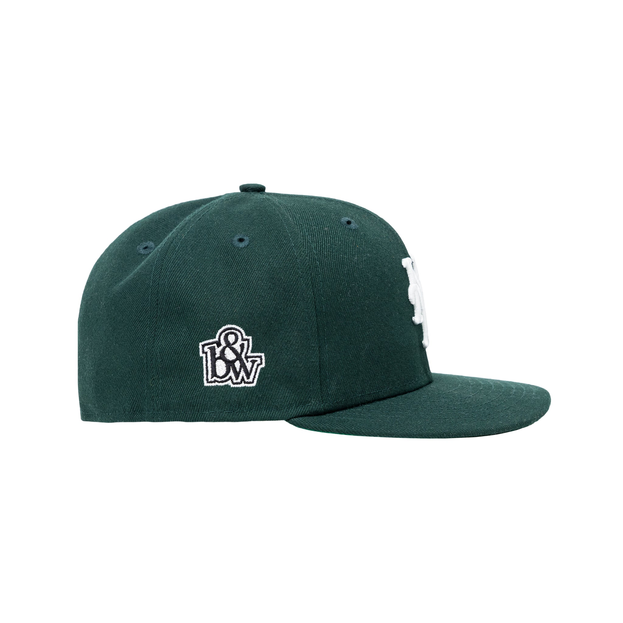 b&w x New Era for The New York Mets, Forest Green