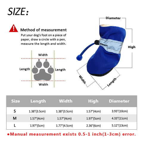 Dog Bootie Sizing