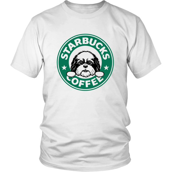 Cute Shih Tzu Starbucks Coffee Funny Shih Tzu Lover TShirt