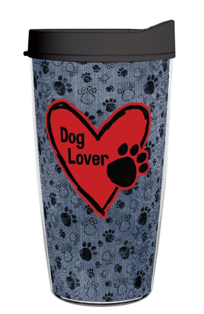 "DENIM DOGGIE ""Dog Lover"" 16OZ TUMBLER"