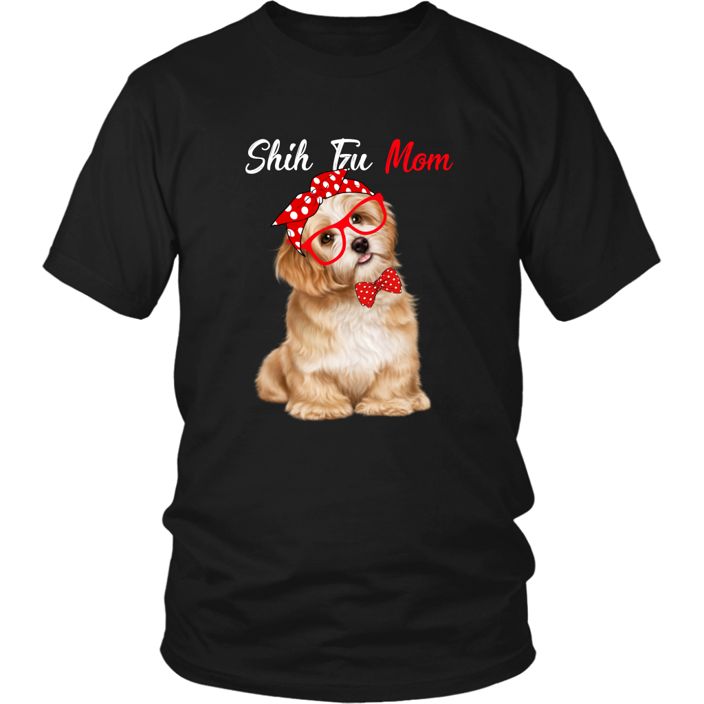 Cute Black SHIH TZU Mom Shirt for Shih Tzu Dog Lovers