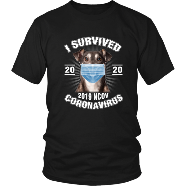 I Survived Coronavirus 2020 Funny Dog Lover  TShirt