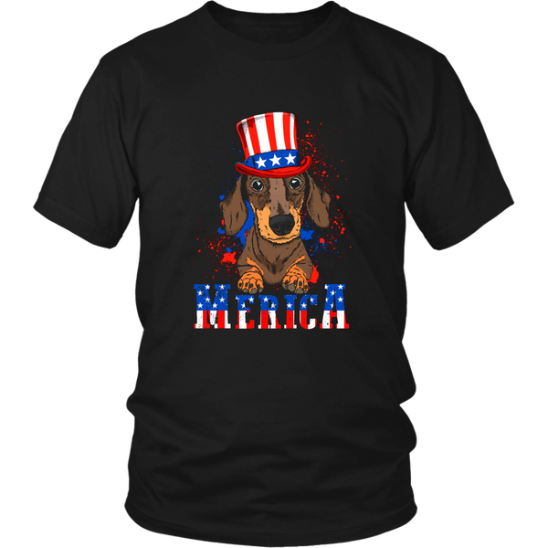 Dachshund 4th of July Cute Dachshund Dog Lover TShirt