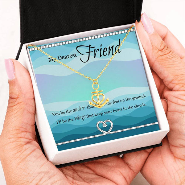 Friendship Anchor Necklace Gift To My Dearest Friend|Personalized Gift Message