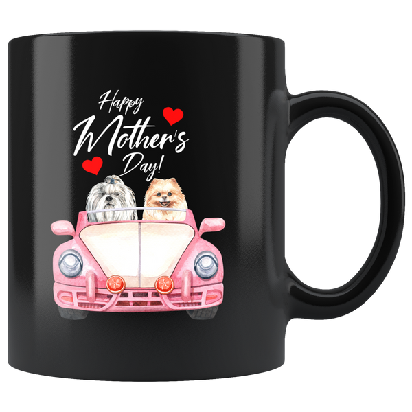 Happy Mothers Day Coffee Mug Gift|Shihtzu Pomeranian Mothers Day Dog Lover Gift
