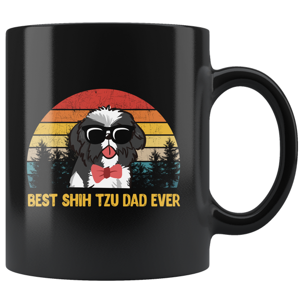 Best Shih Tzu Dad Ever Funny Dog Lover Coffee Mug