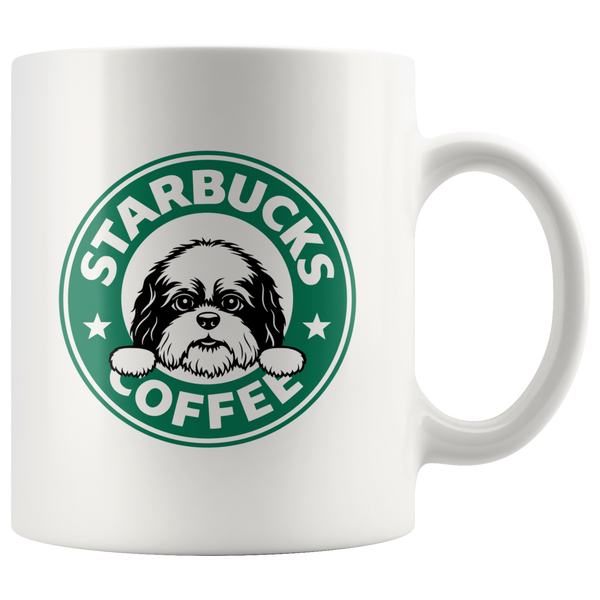 Cute Shih Tzu Starbucks Coffee Funny Shih Tzu Coffee Mug