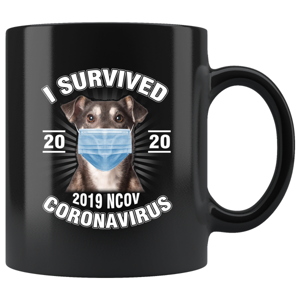 I Survived Coronavirus 2020 Funny Dog Lover Coffee Mug