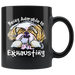 Being Adorable is Exhausting Funny Black Dog Lover Coffee Mug