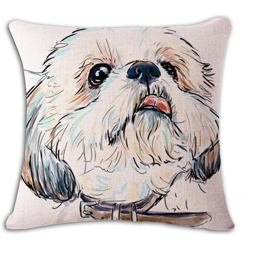 Shih Tzu Face Cushion Cover