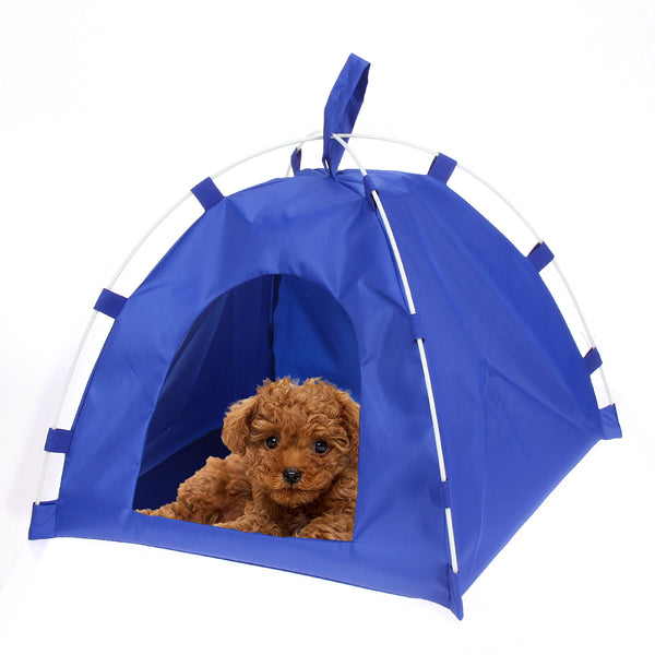 Oxford Portable Folding Pet Tent House Dog Cat Playing Bed Mat Waterproof Kennel Bed for Small Medium Dogs Outdoor Supplies
