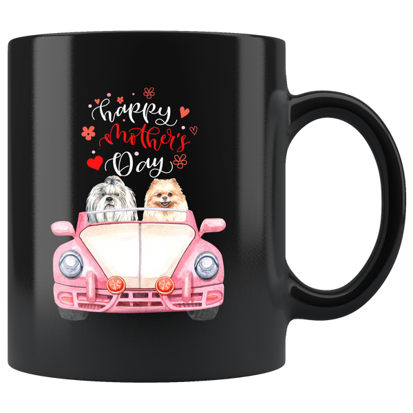 Mothers Day Coffee Mug Gift|Cute Shihtzu Pomeranian Mothers Day Dog Lover Gift