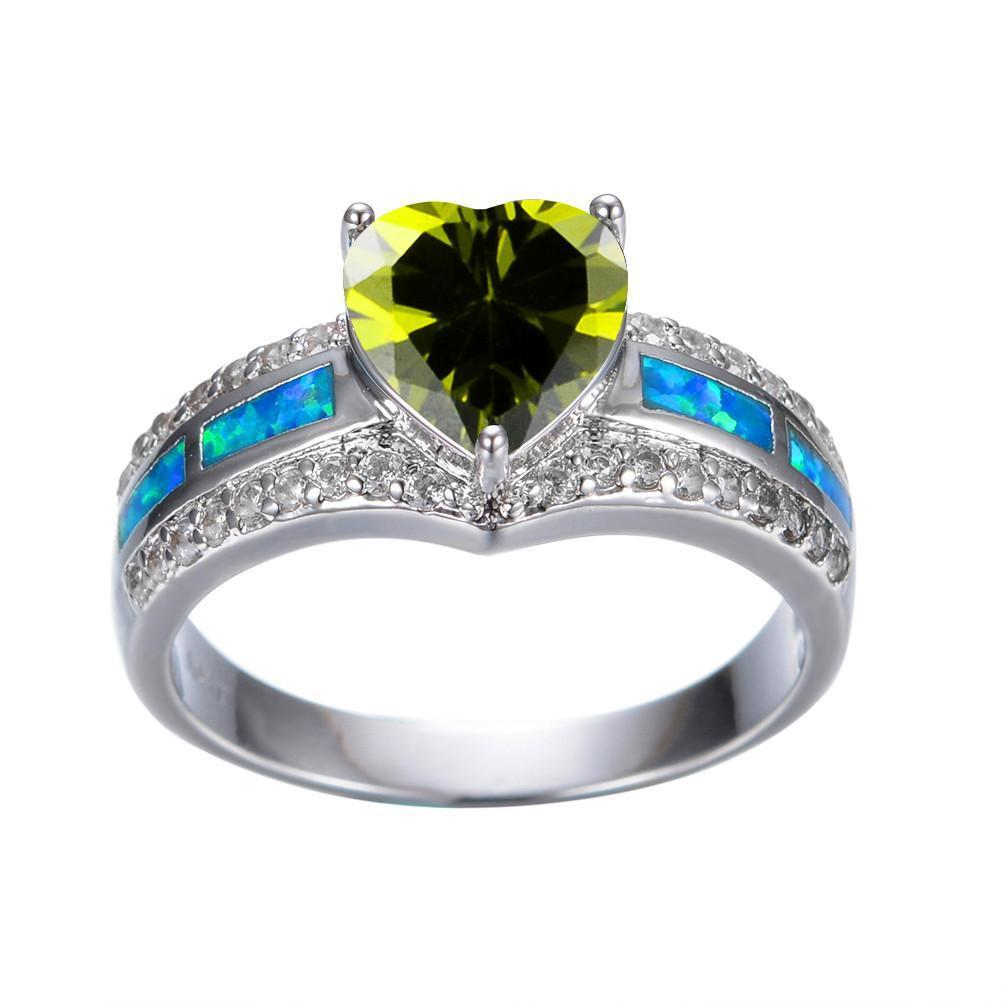 white vintage diamond cocktail peridot jewelry karat danhov rings pin estate ring wedding gold