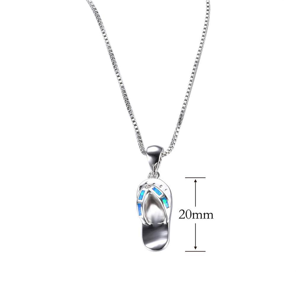 Slipper pendant necklace blue fire opal cho1st slipper pendant necklace blue fire opal mozeypictures Image collections