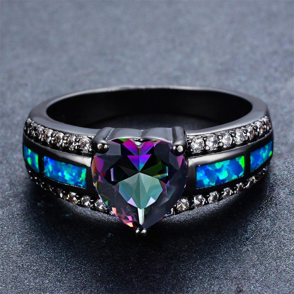 rainbow with polished product new band rings gay pride ornaments titanium ring store high online steel fashion jewelry
