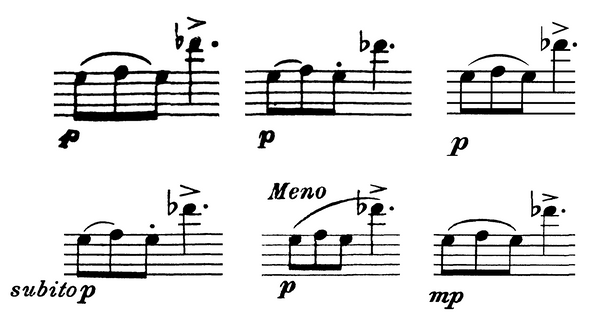 Cavallini Adagio e Tarantella measure 98 comparison