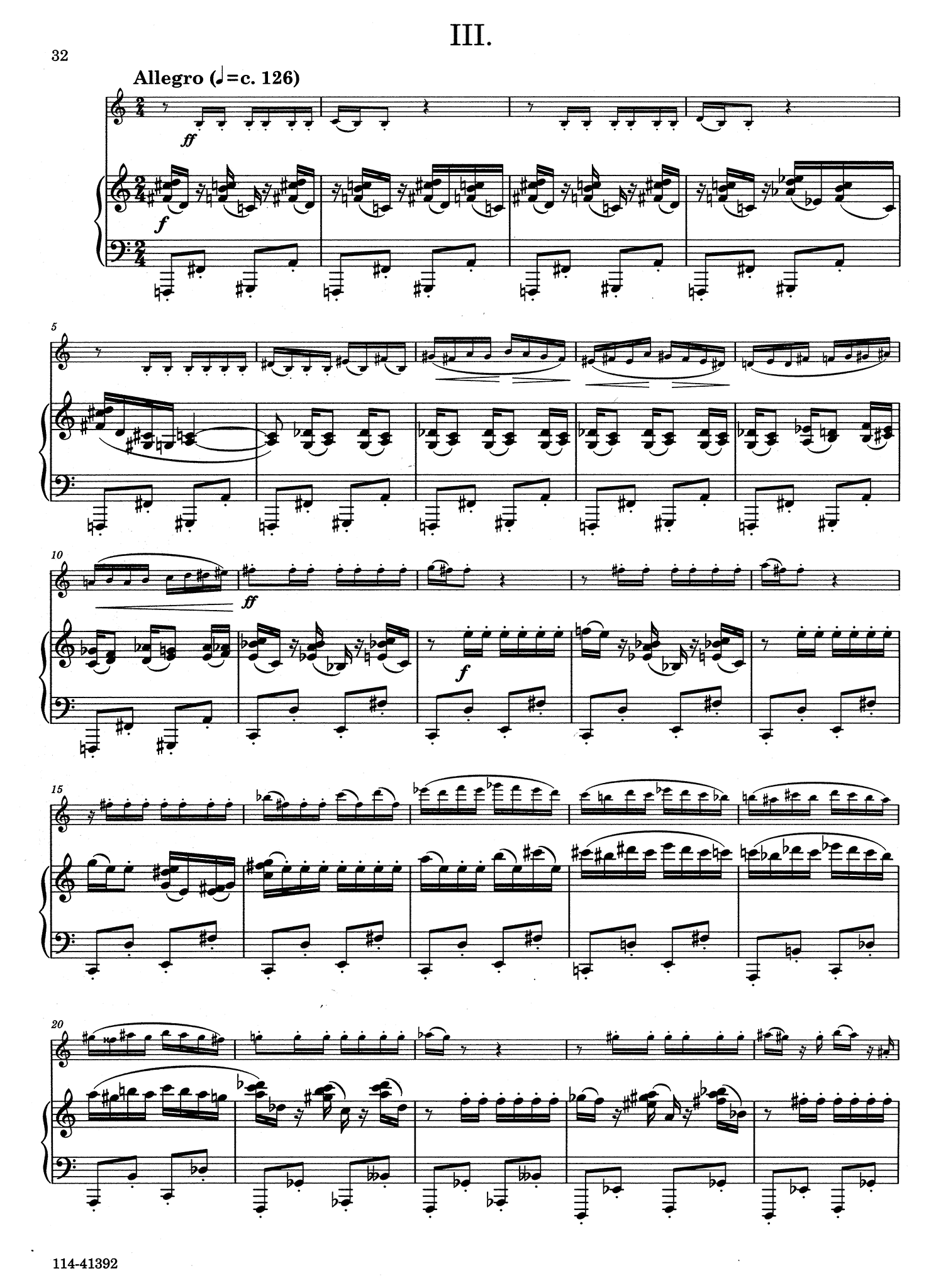 Clarinet Concerto, Op. 110 - Movement 3