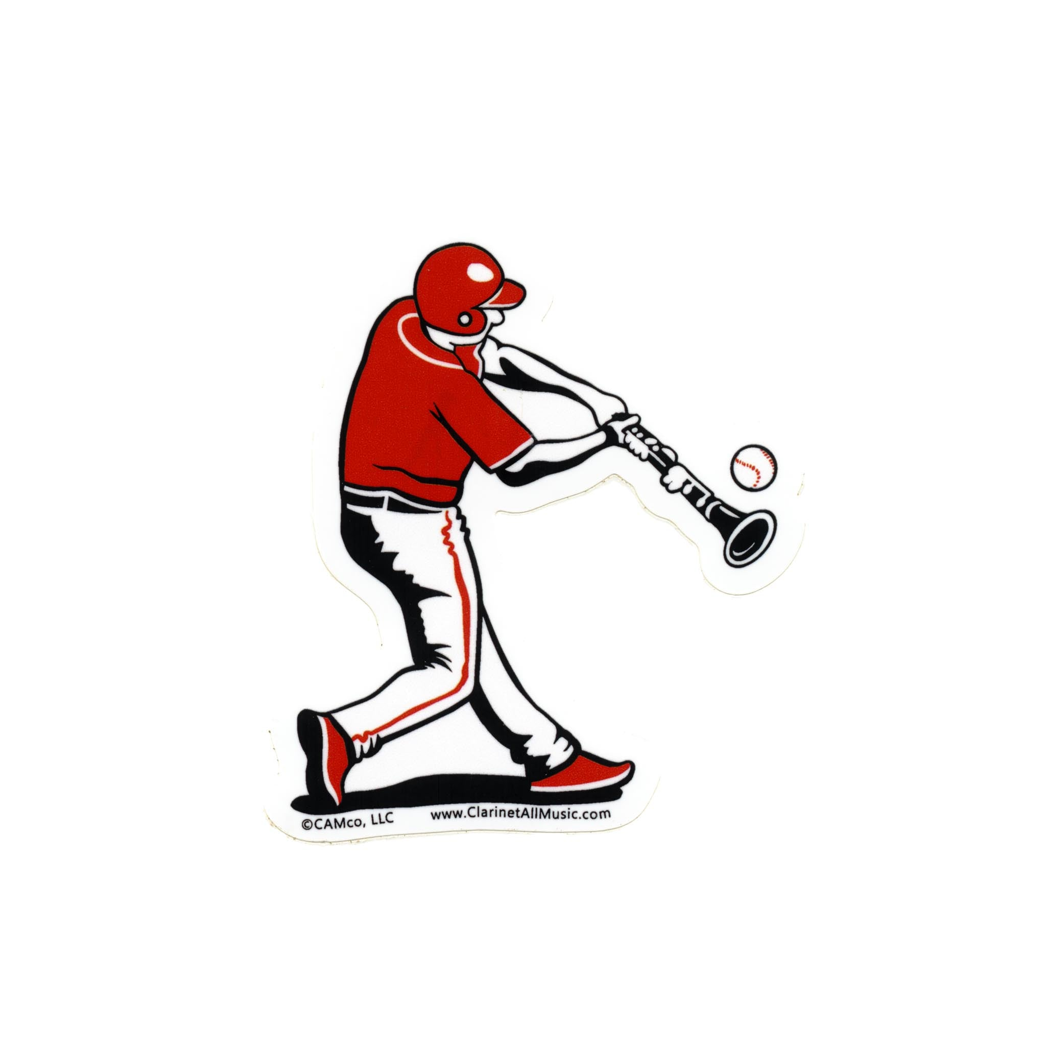 Clarinet Baseball batter vinyl sticker
