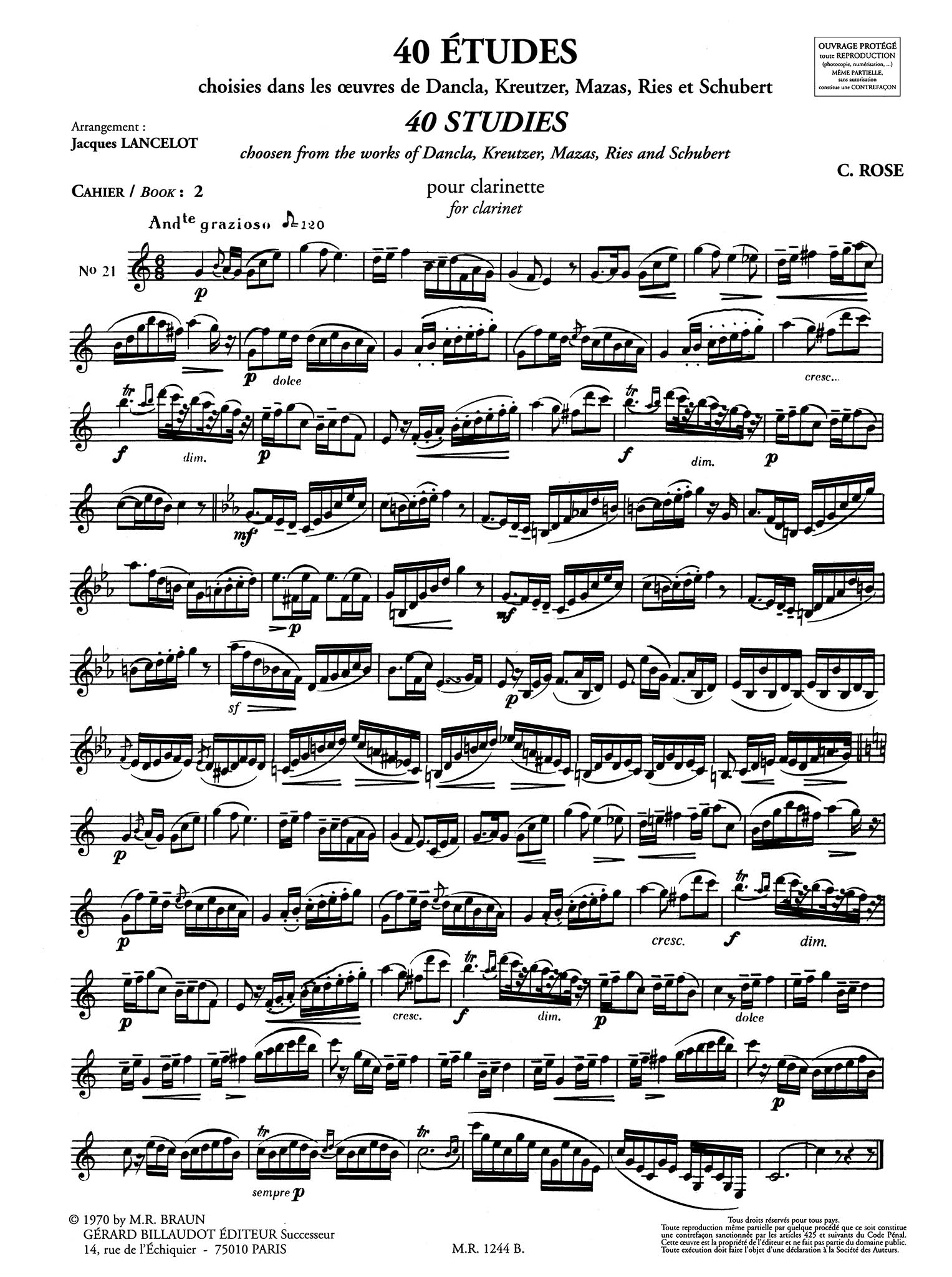 40 Etudes for Clarinet, Book 2 of 2 Page 4