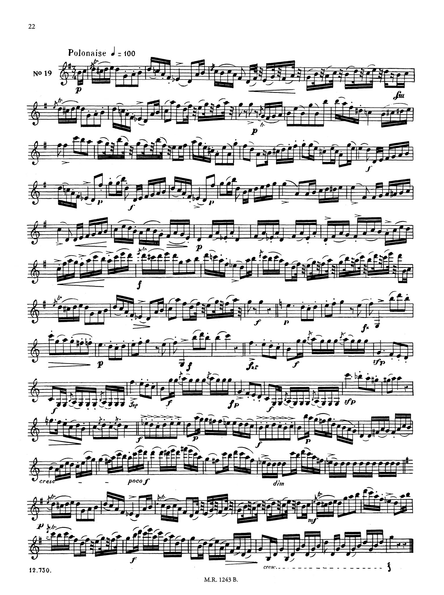 40 Etudes for Clarinet, Book 1 of 2 Page 22