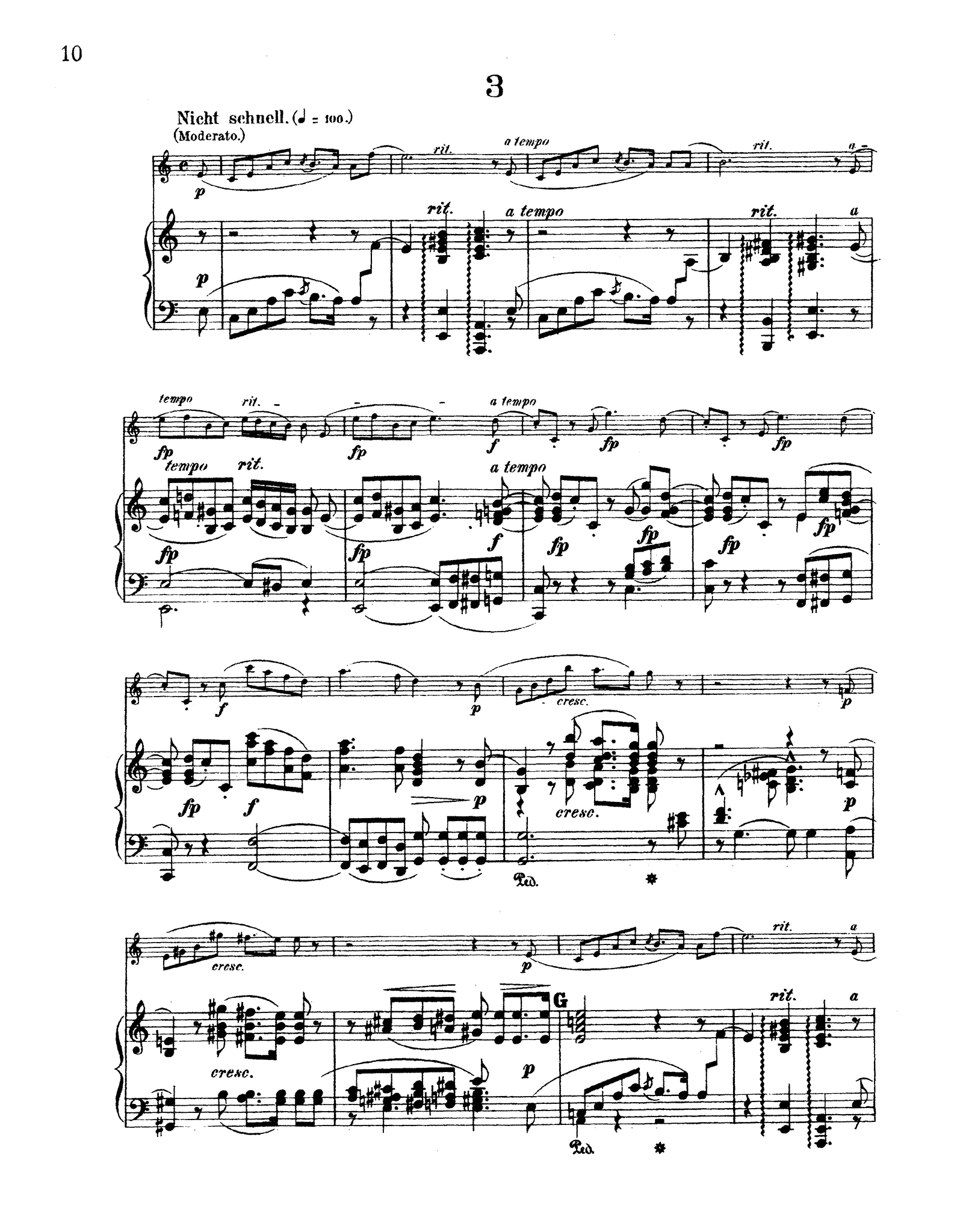 Schumann 3 Romances, Op. 94 - Movement 3