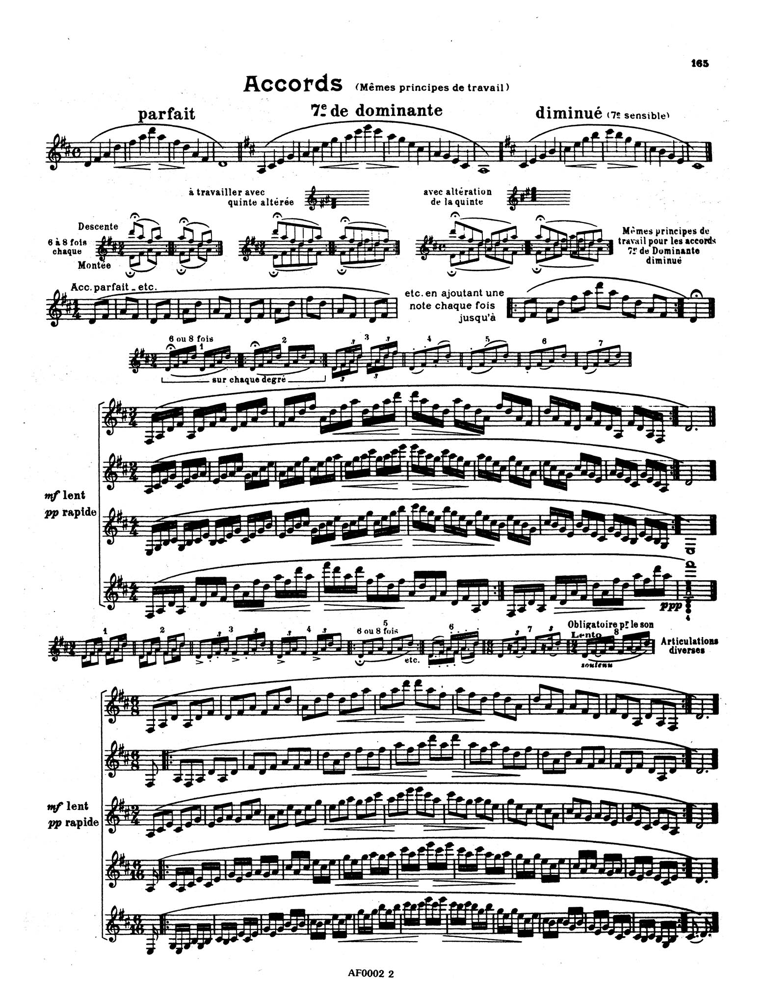 Progressive and Complete Method for the Clarinet, Book 2 Page 165