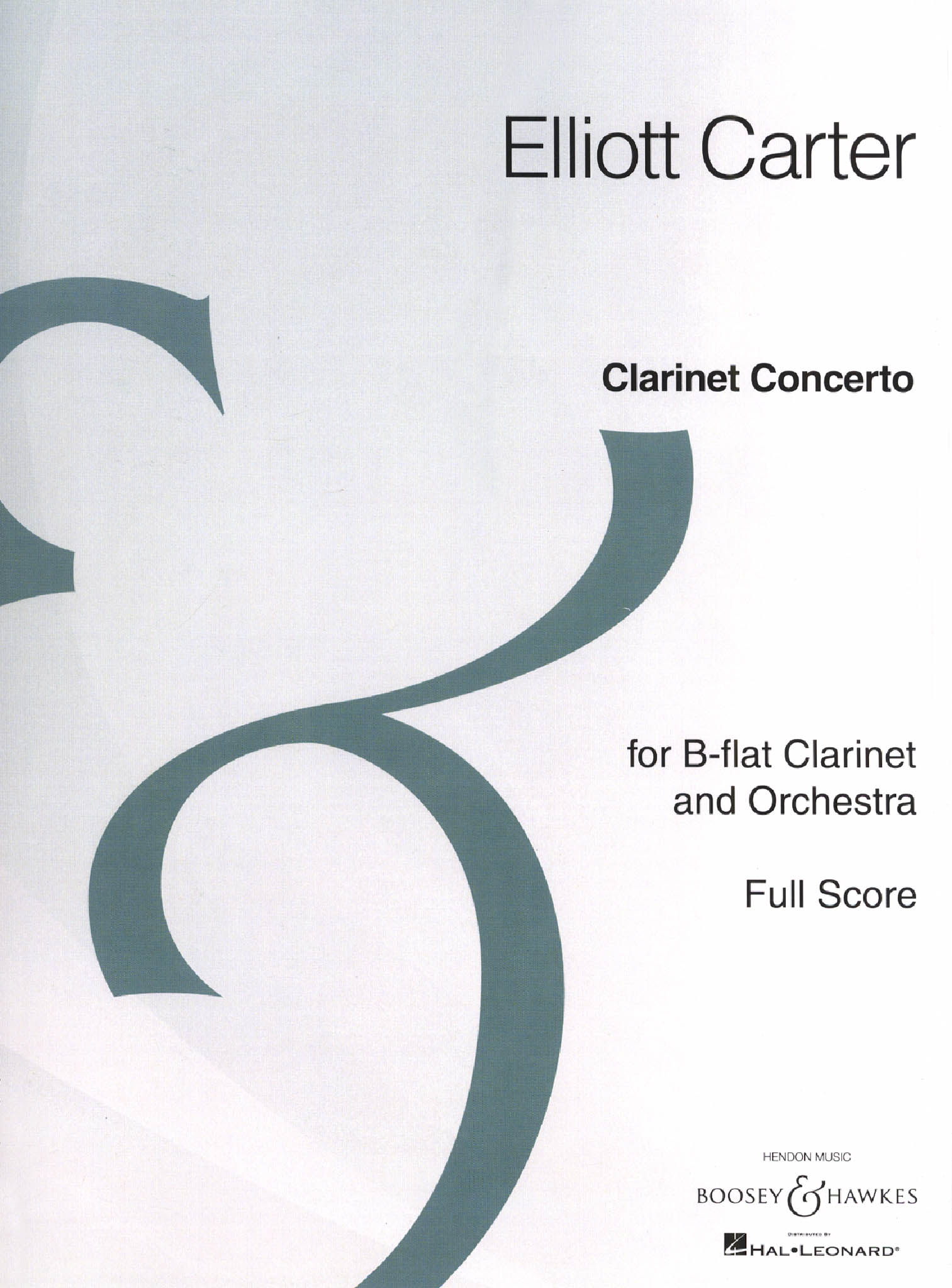 Carter Clarinet Concerto Full Score Cover