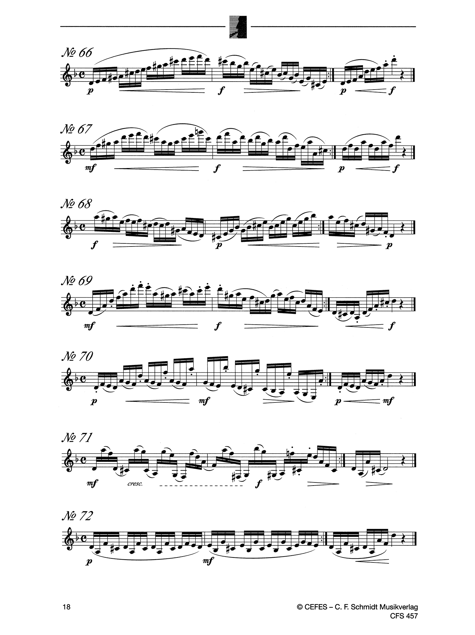 416 Progressive Studies for Clarinet, Book 1: 167 Daily Exercises Page 18