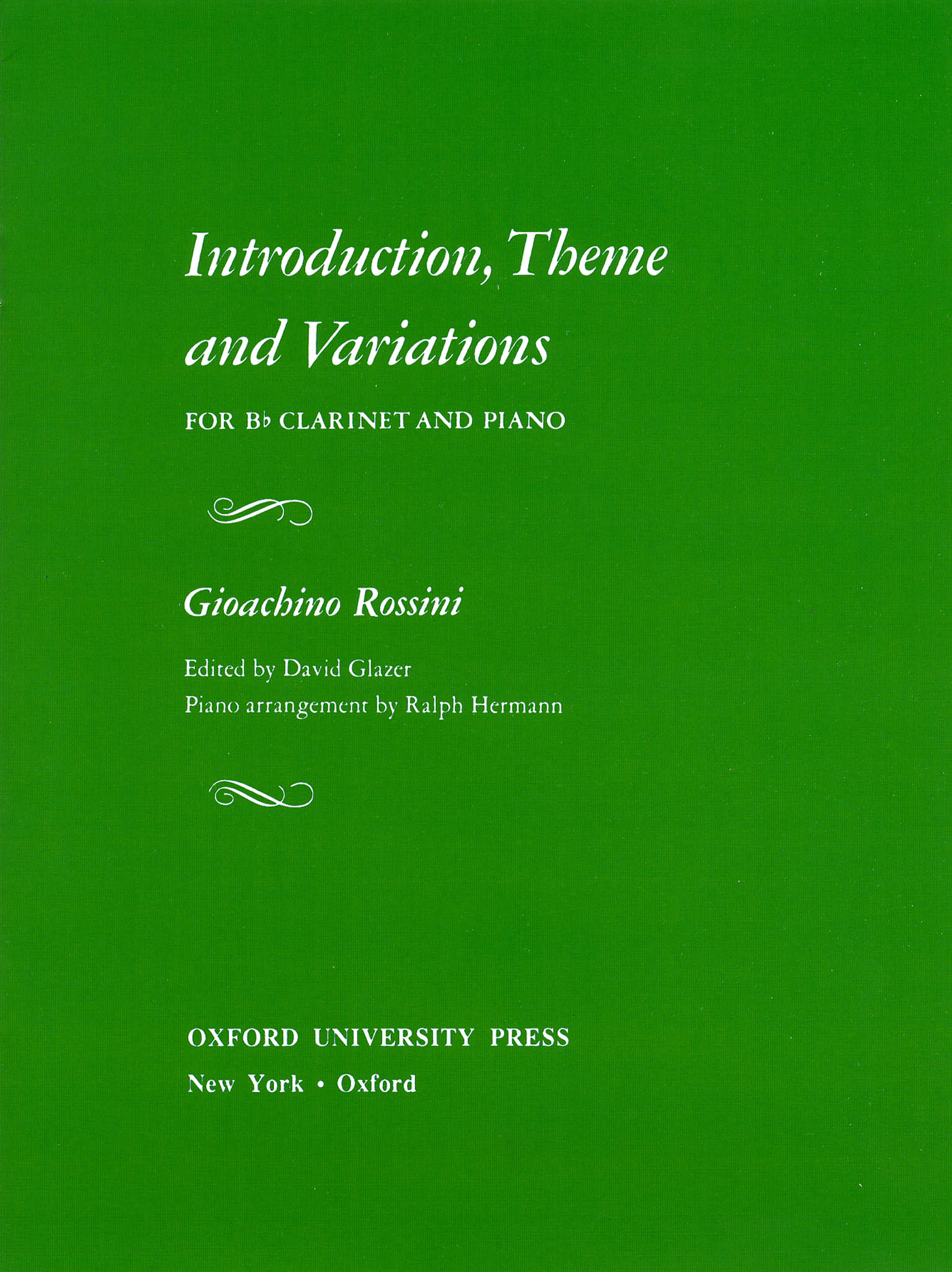 Introduction, Theme & Variations Cover