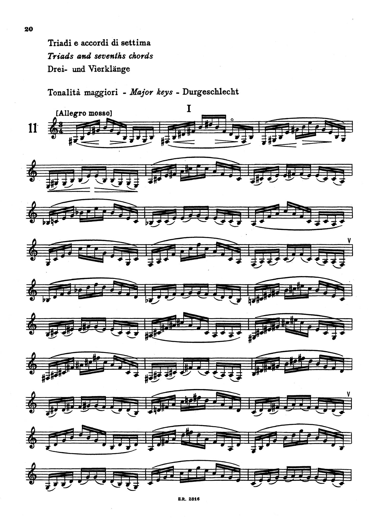 Arpeggio Studies for Clarinet - Page 20