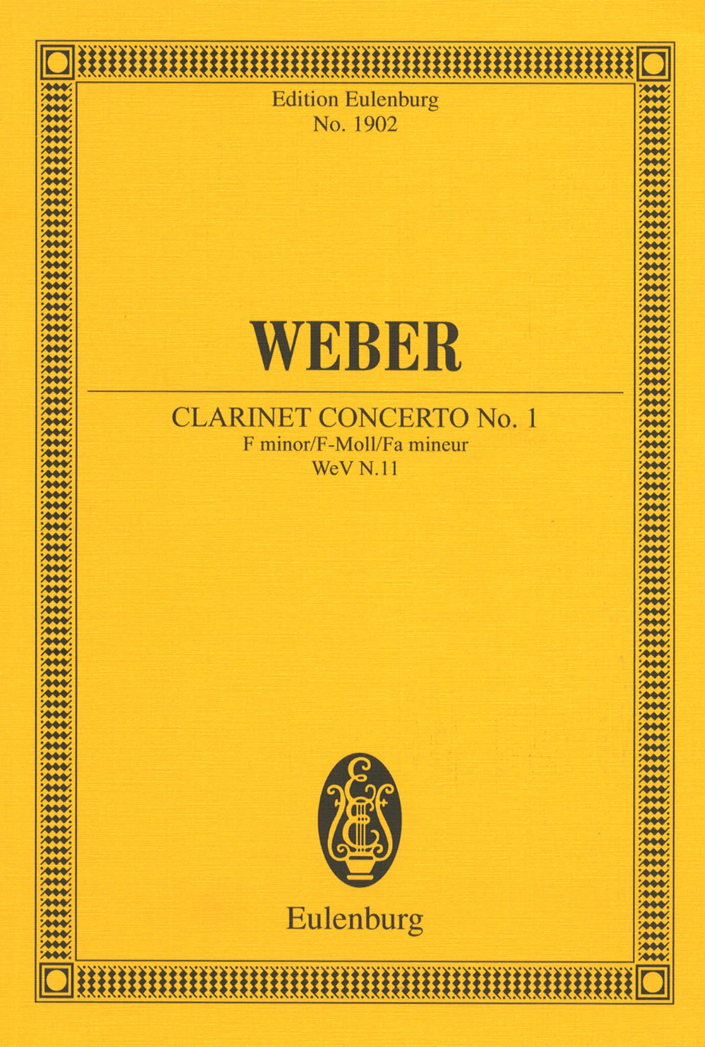 Clarinet Concerto No. 1 in F Minor, Op. 73 Cover