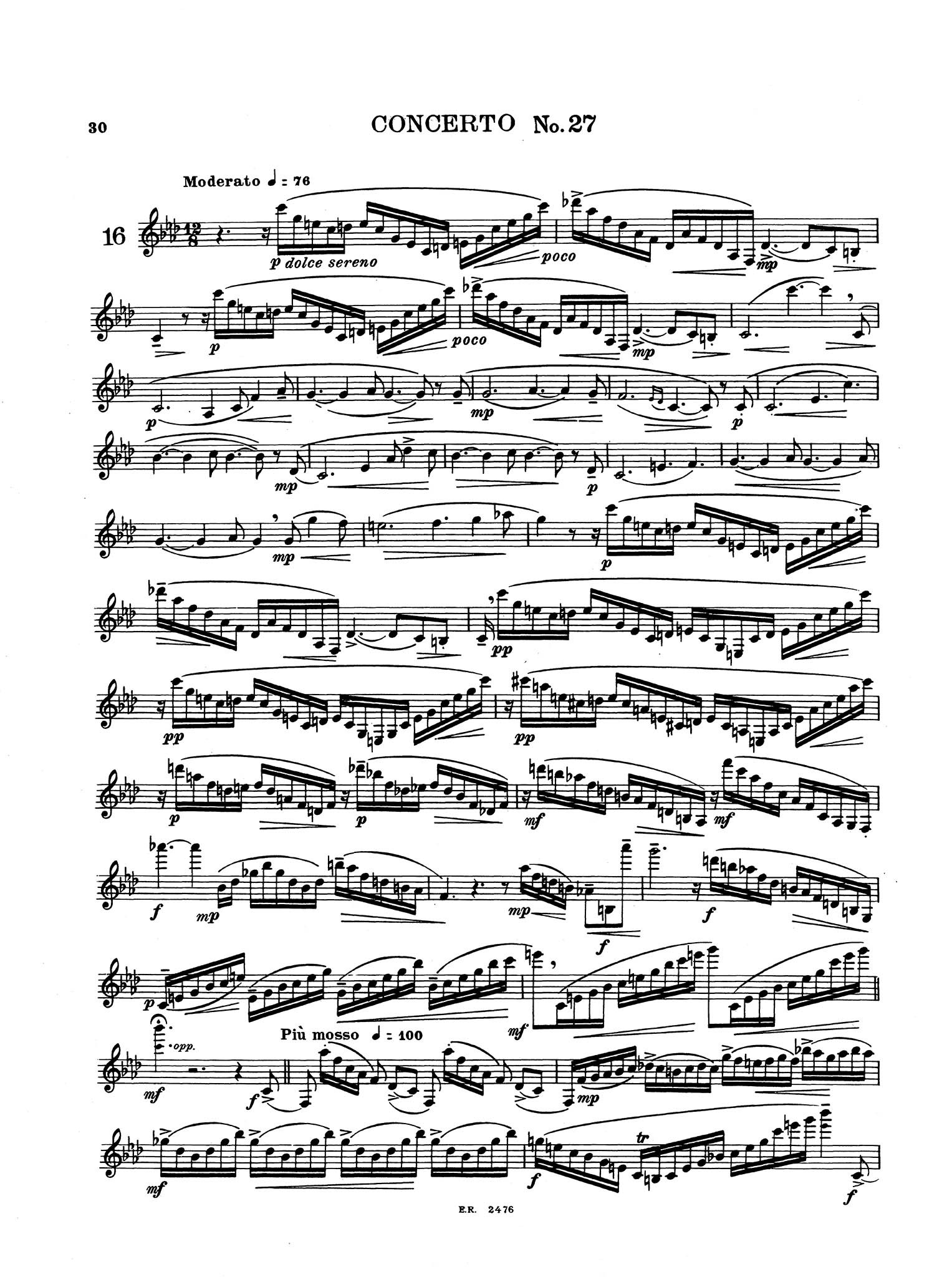 16 Grand Concert Studies for Clarinet - Page 30