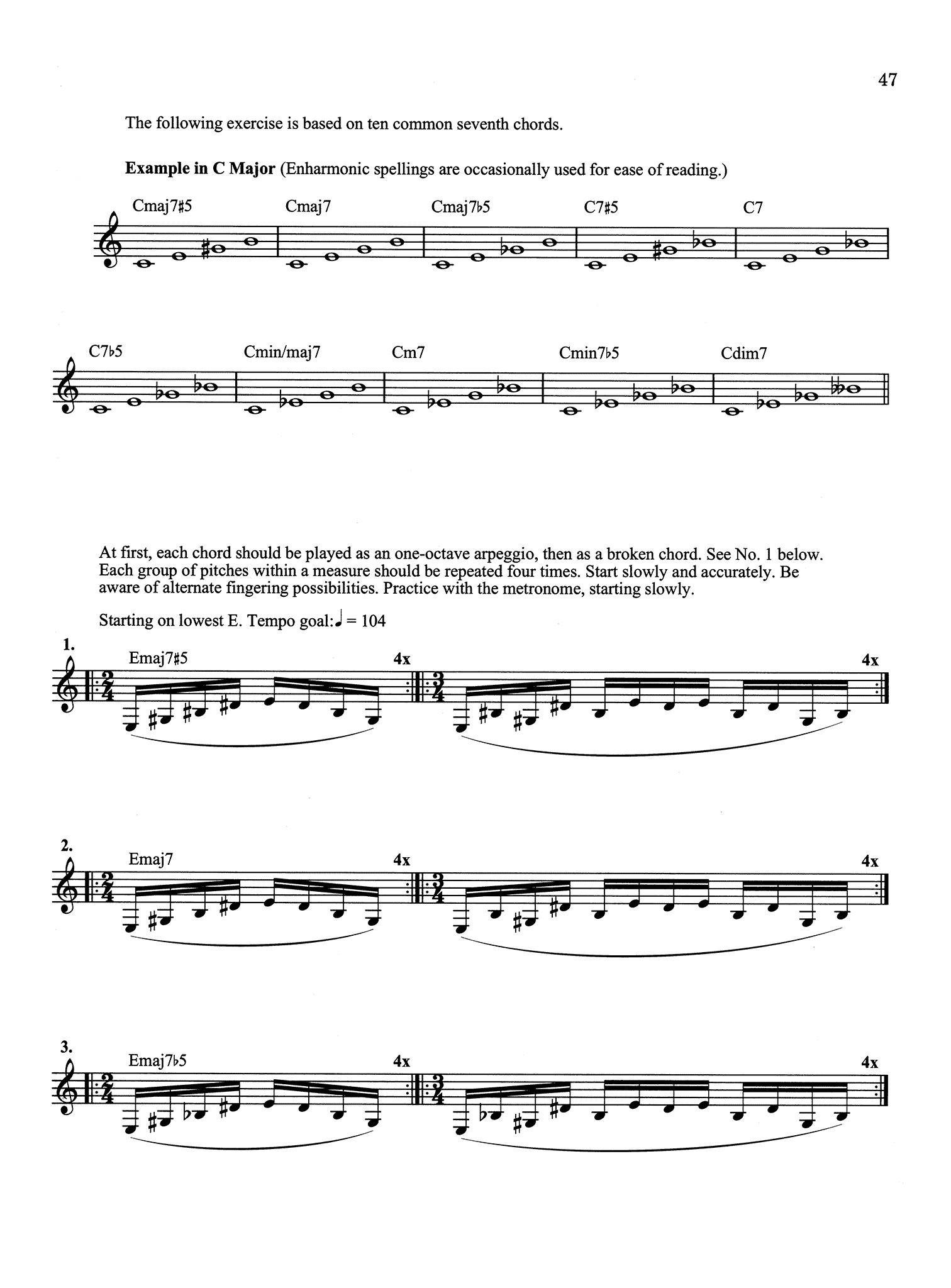 The Vandoren Etude and Exercise Book for Clarinet Page 47