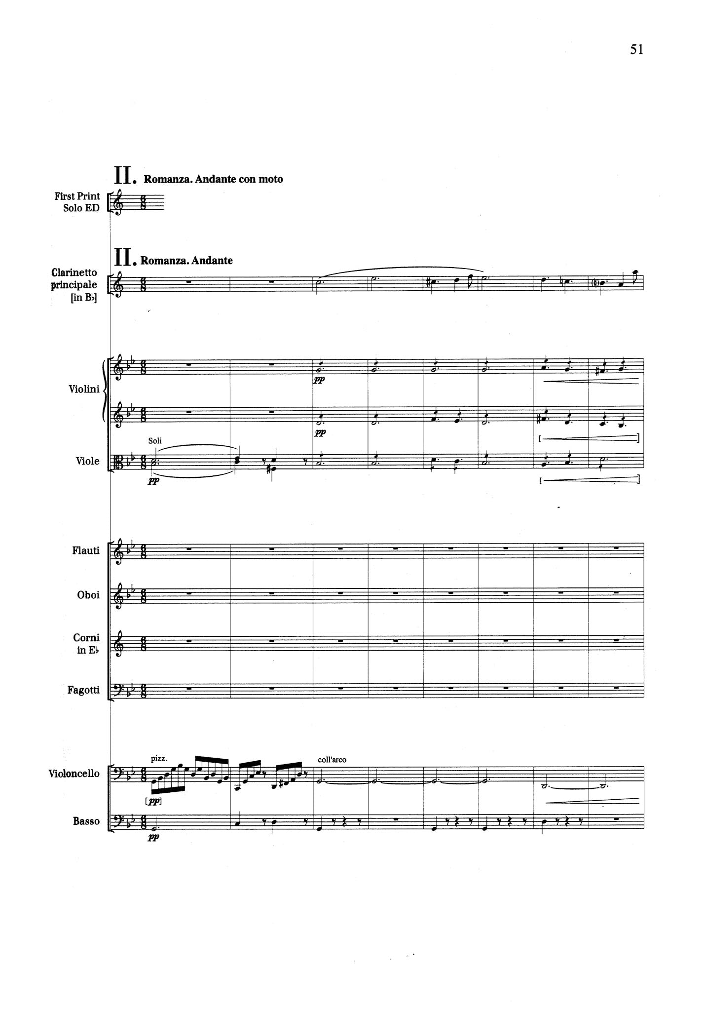 Clarinet Concerto No. 2 in E-flat Major, Op. 74 - Movement 2