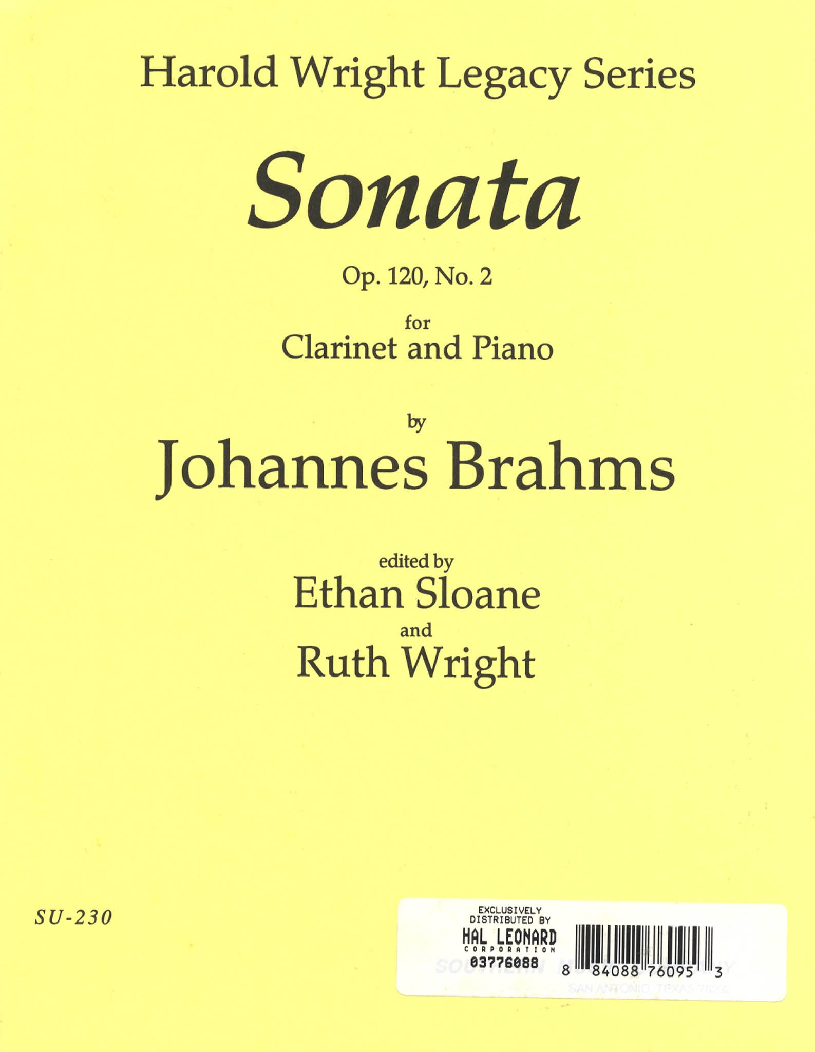 Sonata in E-flat Major, Op. 120 No. 2 Cover
