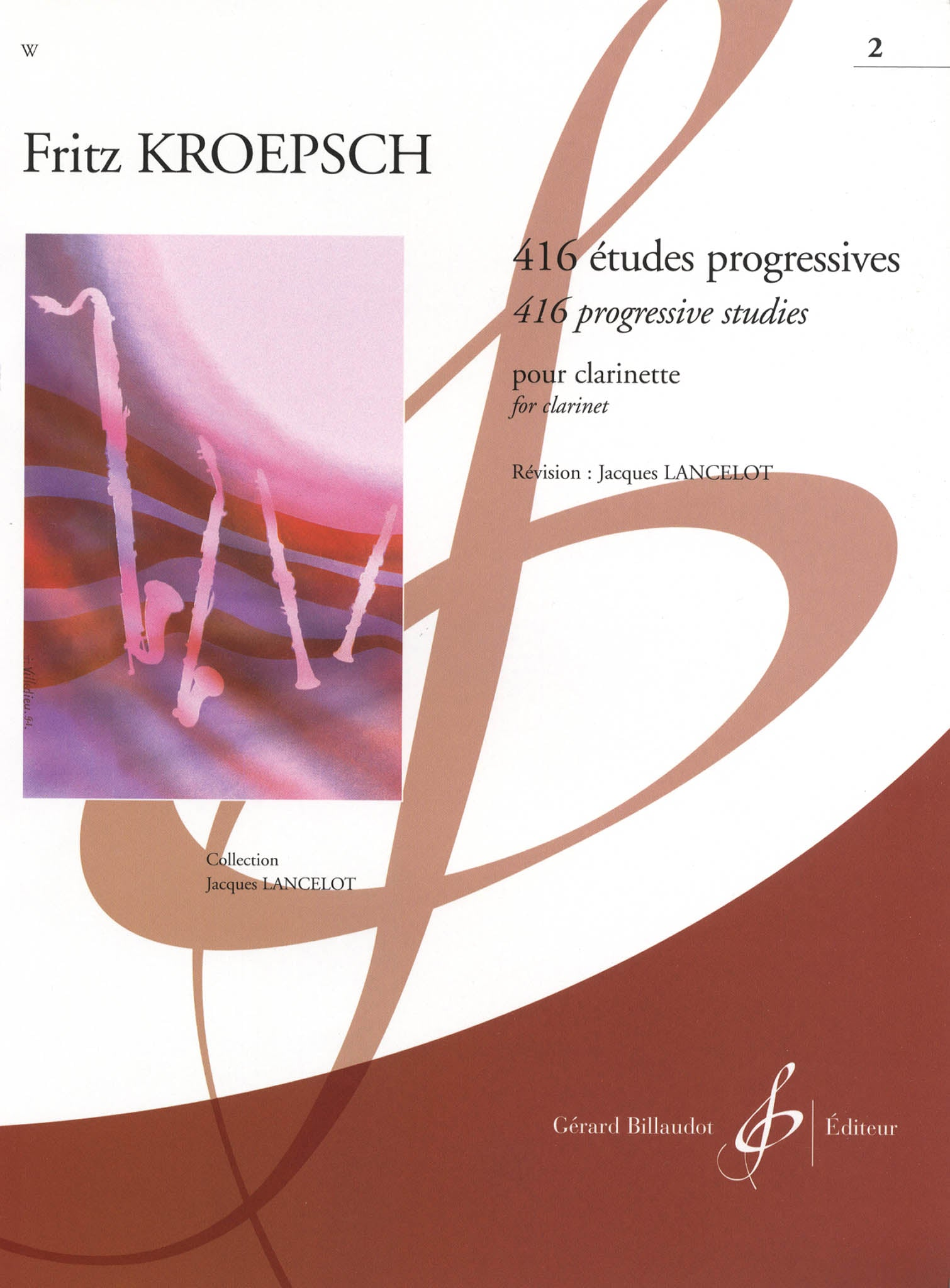 416 Progressive Studies for Clarinet, Book 2: 183 Daily Exercises Cover