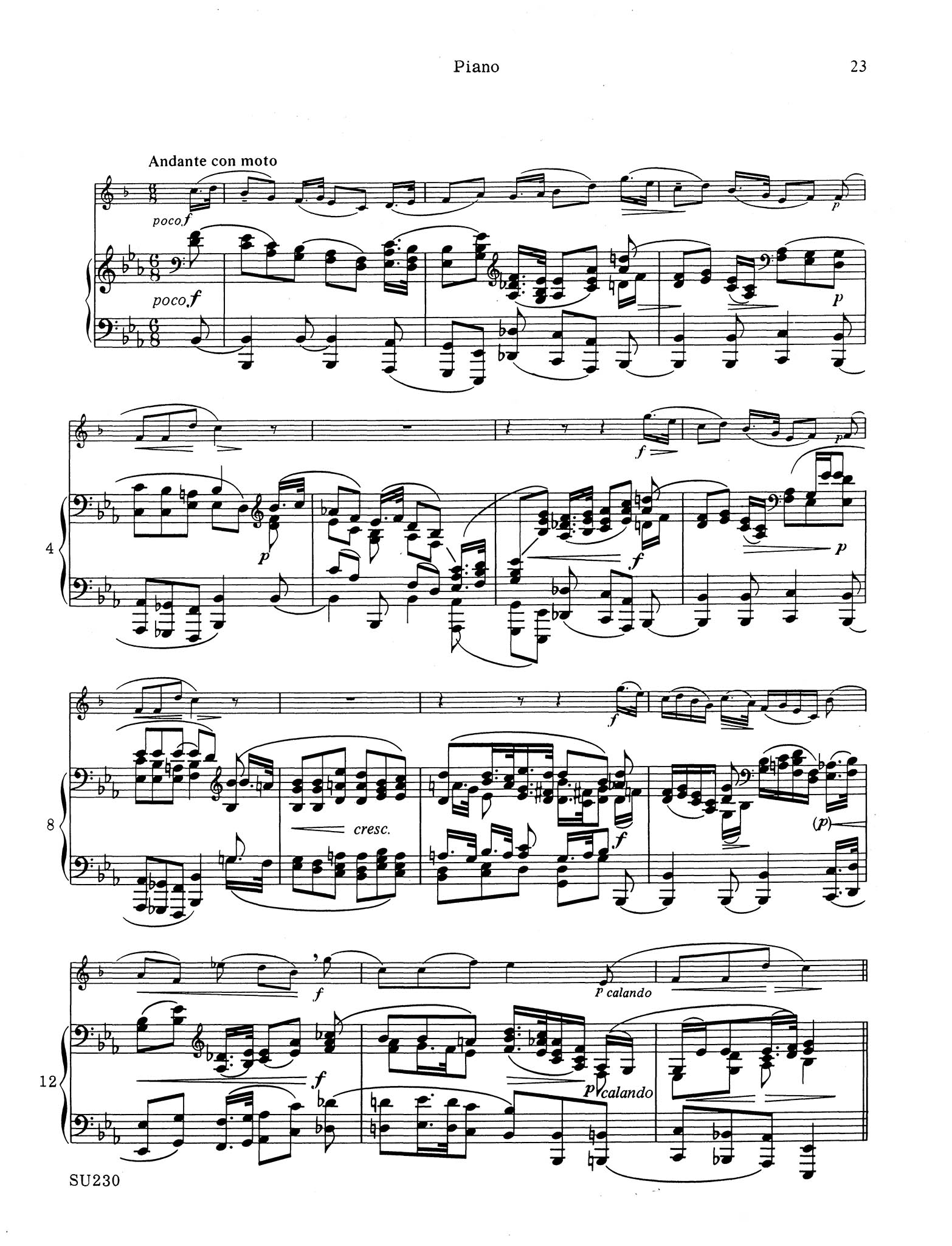 Sonata in E-flat Major, Op. 120 No. 2 - Movement 3