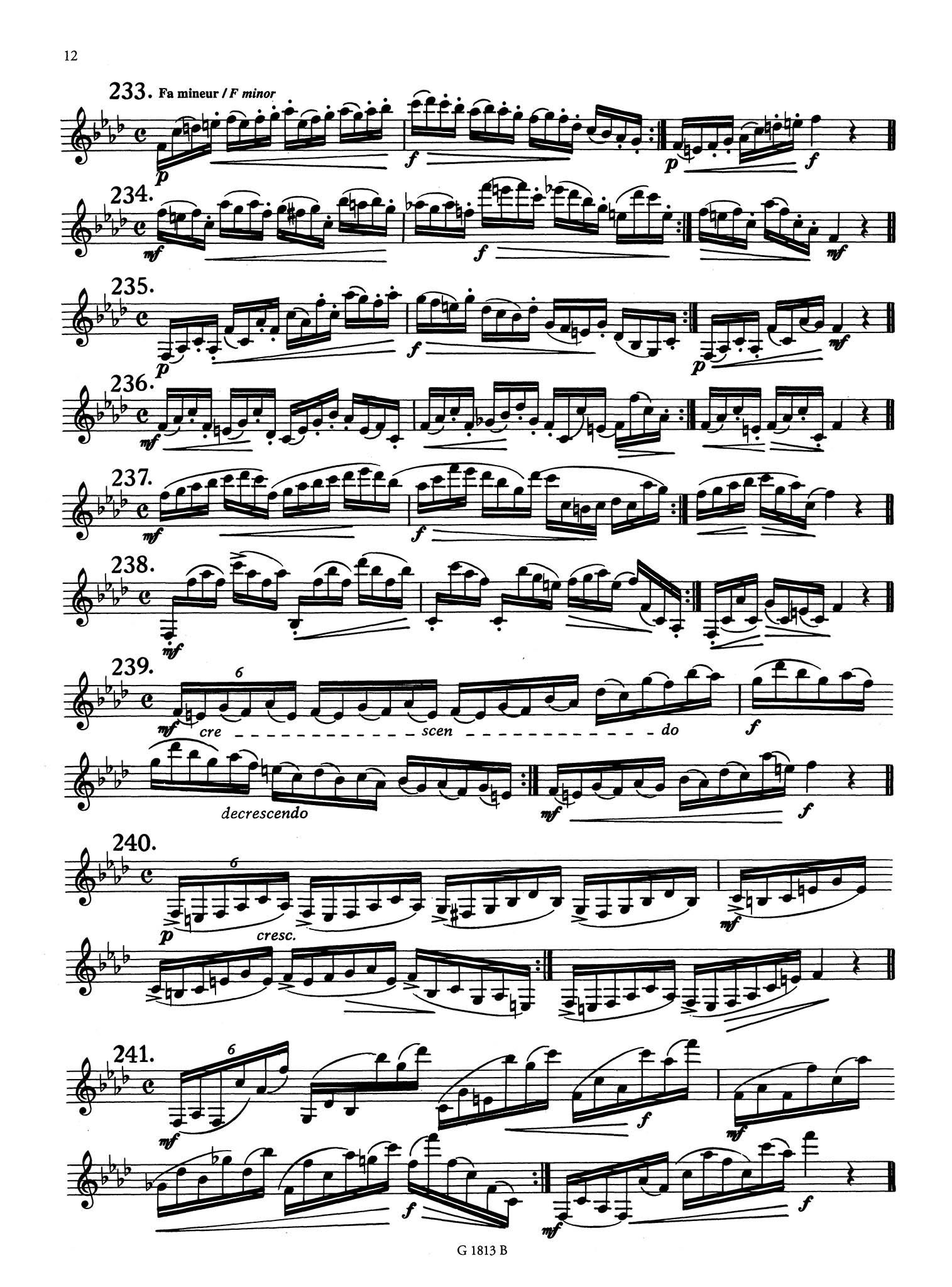 416 Progressive Studies for Clarinet, Book 2: 183 Daily Exercises Page 12