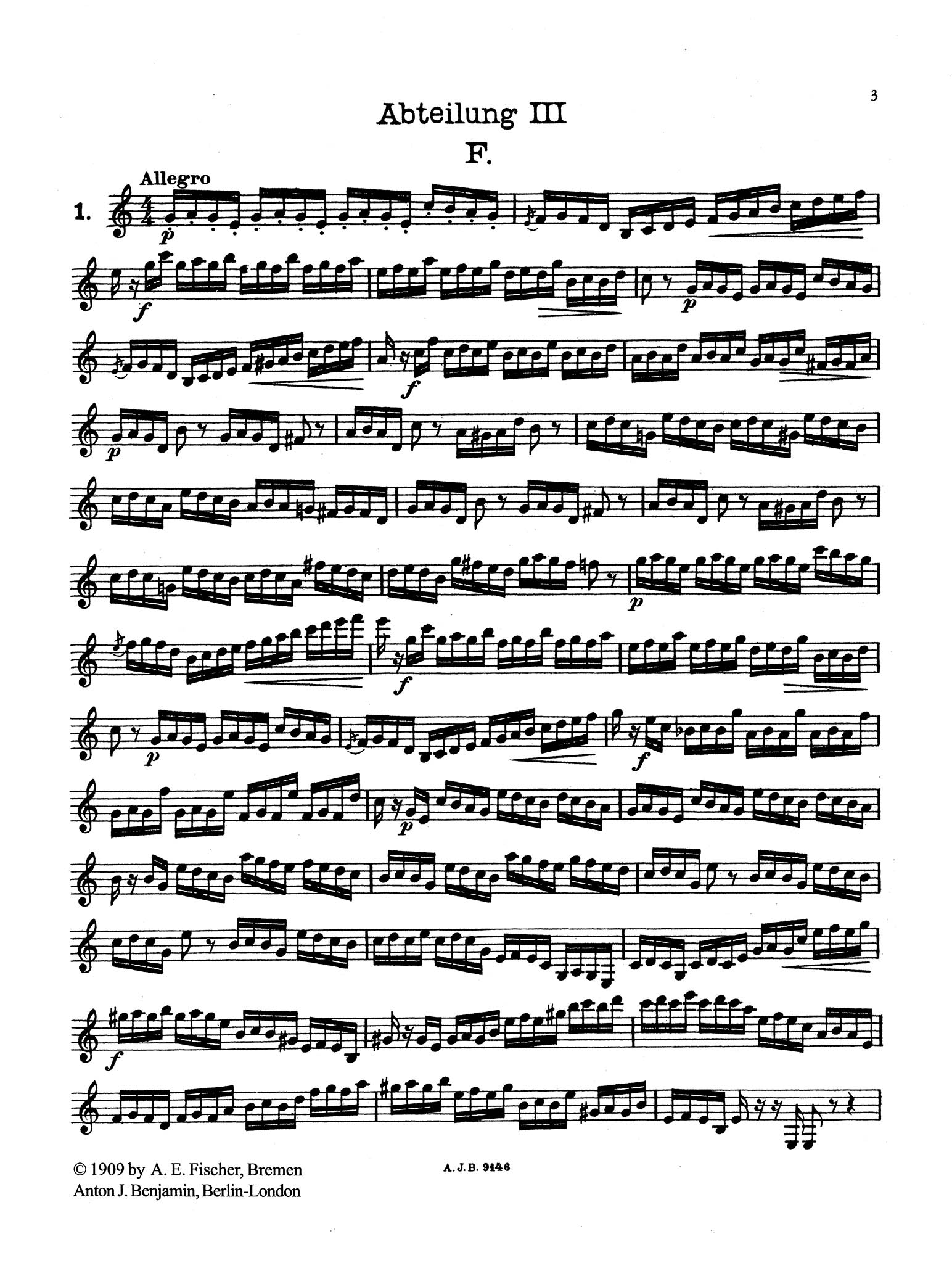 Practical Staccato School for Clarinet, Book 3 - Page 3