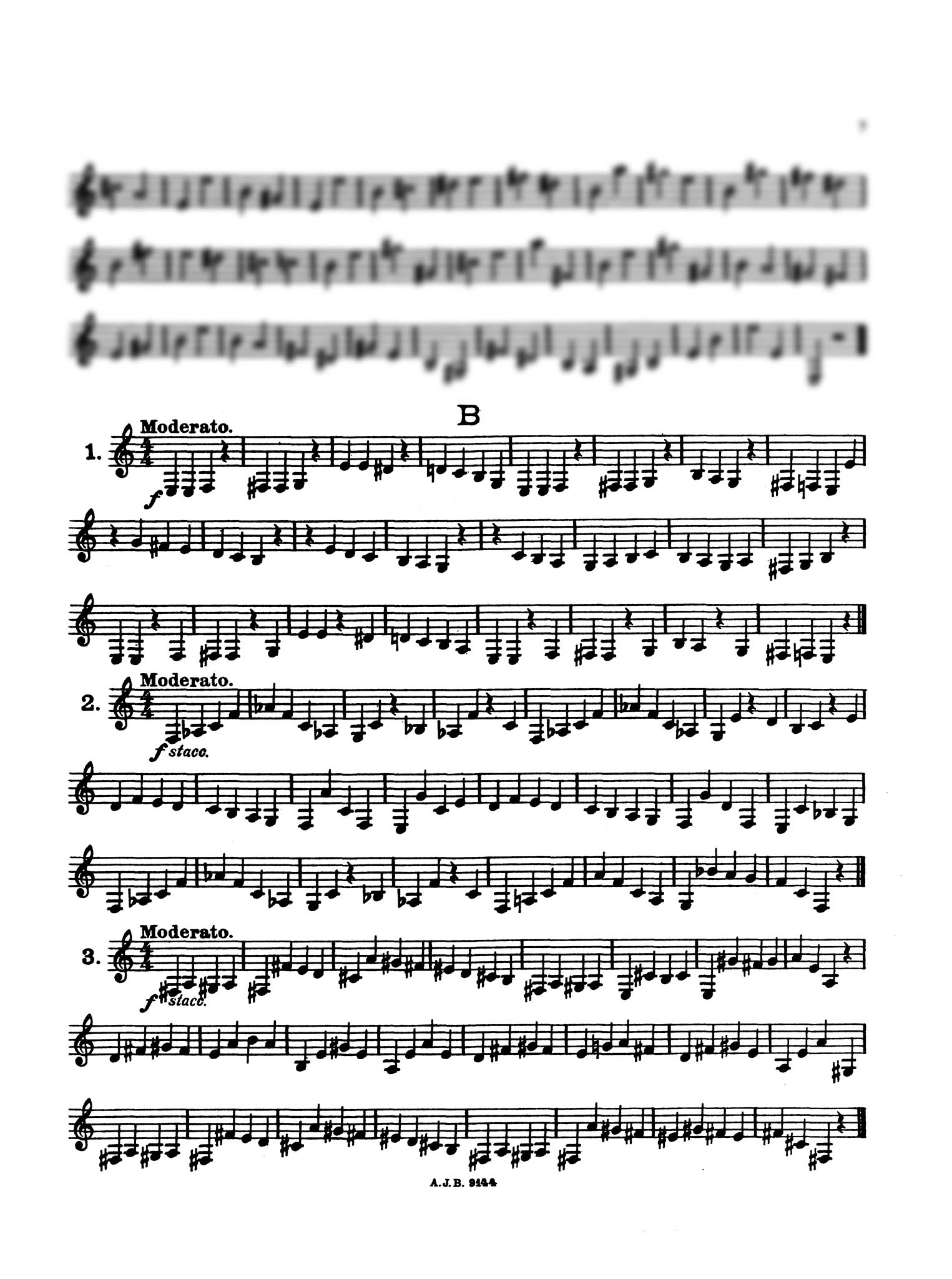 Practical Staccato School for Clarinet, Book 1 Page 7