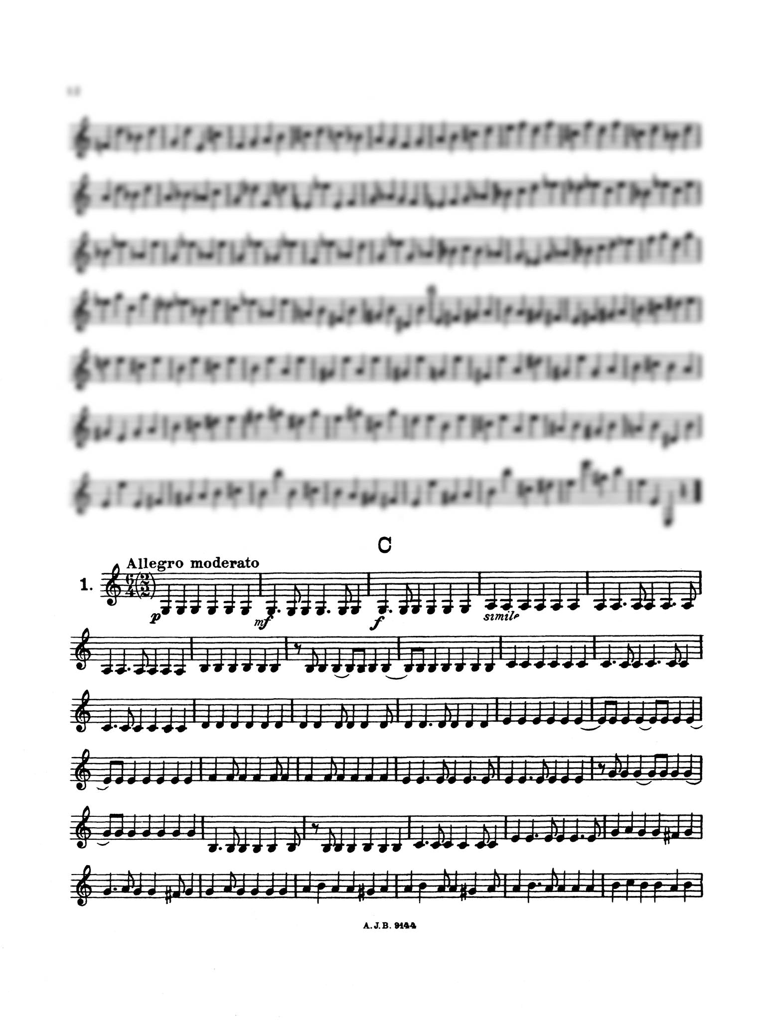 Practical Staccato School for Clarinet, Book 1 Page 12